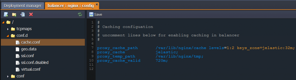enabling cache