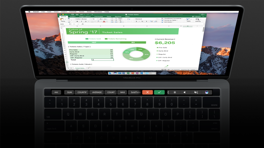 Office 365 Touch Bar Support
