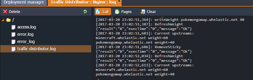 updated logs